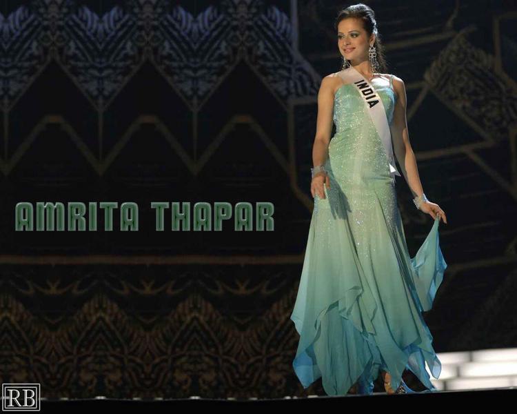 Former Miss India Universe Amrita Thapar Wallpaper