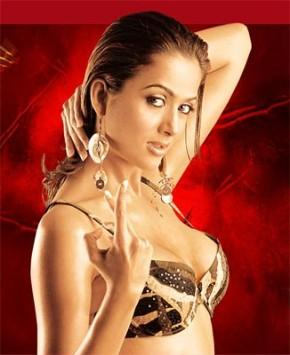 Amrita Arora Wet Boob Show Wallpaper