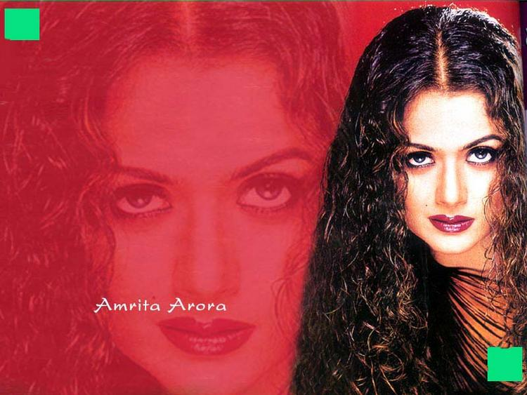 Amrita Arora Wet Hot Look Wallpaper In Curly Hair