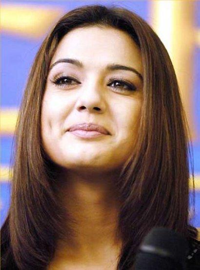 Preity Zinta Close Up Smiling Pics