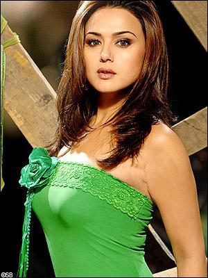 Preity Zinta Green Dress Sexy Wallpaper