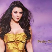 Preity Zinta Open Boobs Hot Wallpaper