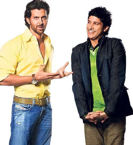 Farhan and Hrithik Cute Photo