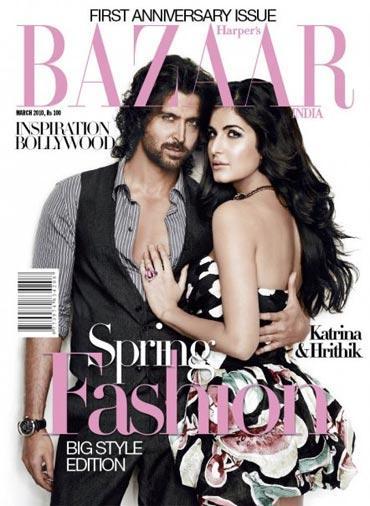 Hrithik and Katrina In Bazaar Magazine