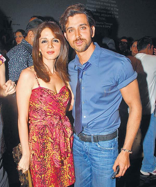 Hrithik and Suzanne Roshan at Manish Malhotra Show