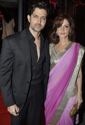 Hrithik Roshan and Suzanne In Saree