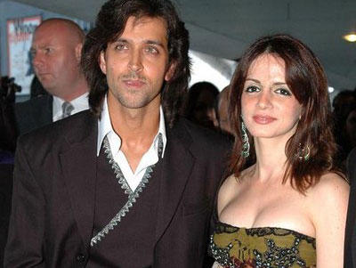 Hrithik Roshan and Wife Suzanne Photo