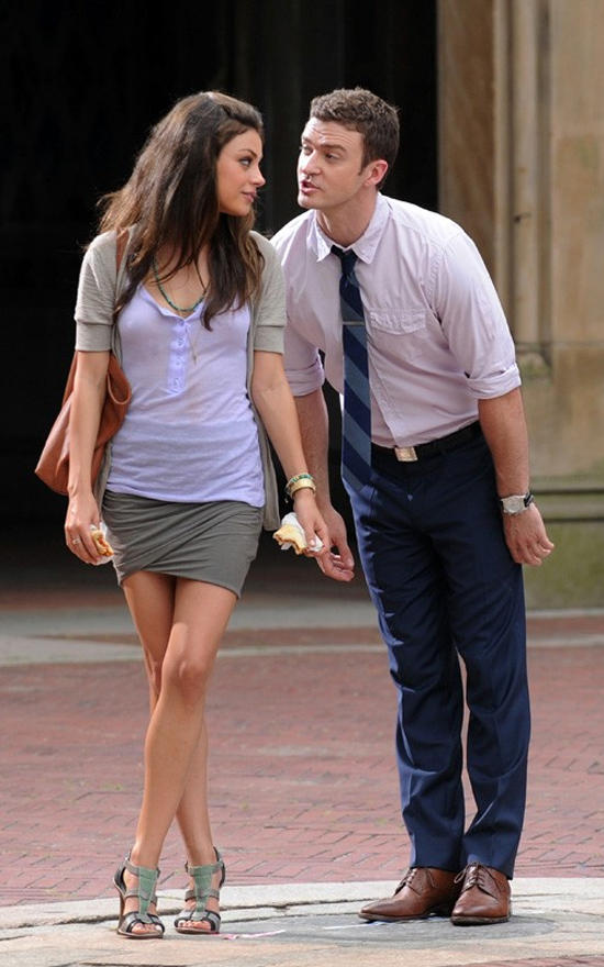 Friends with Benefits Movie Justin and Mila Kunis Cute Photo
