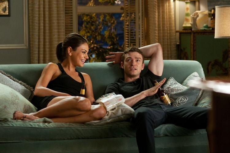 Justin Timberlake and Mila Kunis In Friends with Benefits Movie