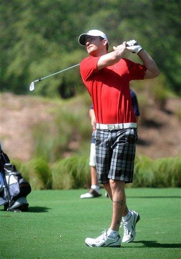 Justin Timberlake Playing Golf