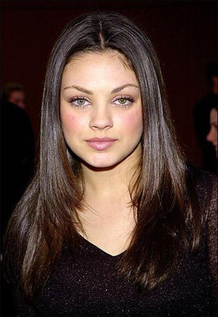 Mila Kunis Glamour Face Look Pic