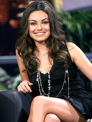 Mila Kunis Sexy Smile Pic In Curly Hair