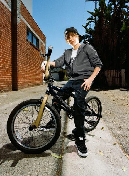 Justin Bieber Stylist Photo With Bicycle