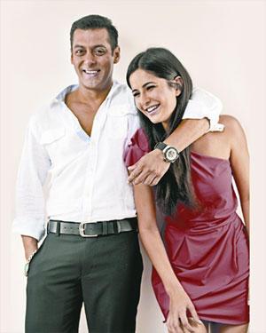 Salman Khan With Katrina Kaif Smiling Pic