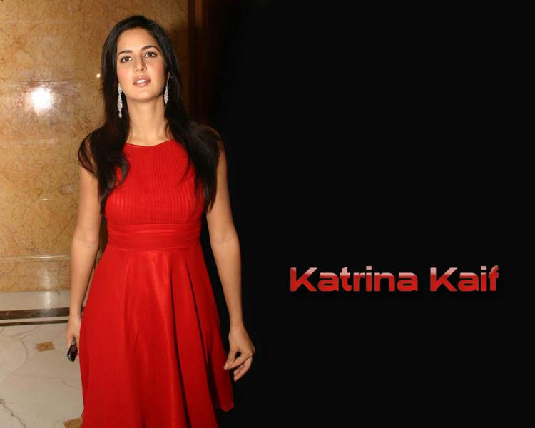 Katrina Kaif Hot Wallpaper In Red Dress