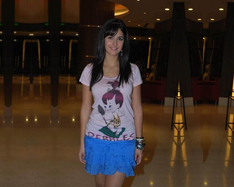 Katrina Kaif Looking Very Cute In Blue Mini Skirt
