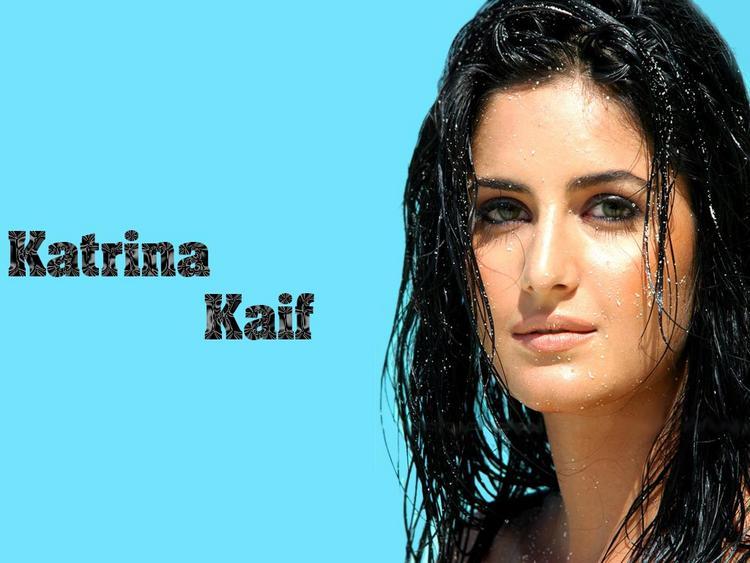 Katrina Kaif Wet Stunning Face Look Wallpaper