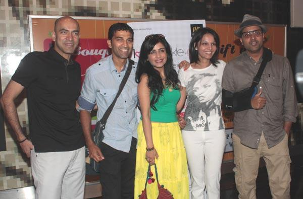 Seema,Ash and Shibani and Others at Screening Of Love Wrinkle Free