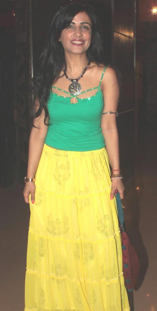 Shibani Kashyap at Love Wrinkle Free film Screening in PVR