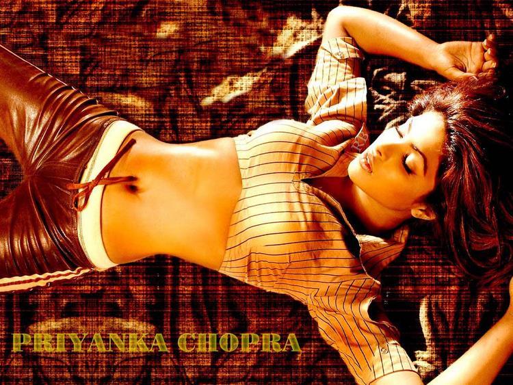 Priyanka Chopra Sexy Navel Show Wallpaper