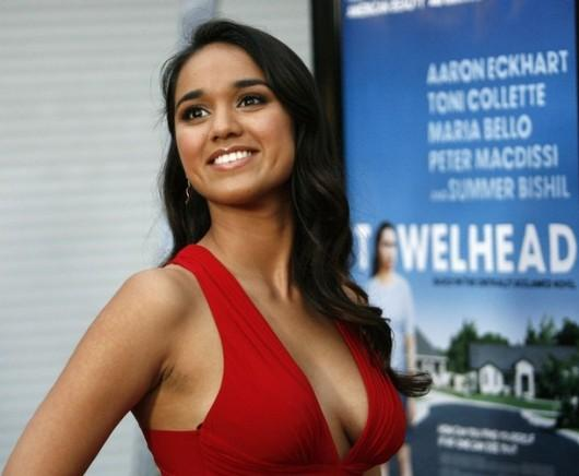 Smiling Summer Bishil Red Dress Very Hot Image
