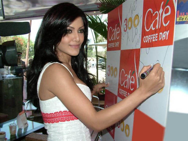 Koena Mitra Sweet Smile Pic In White Dress