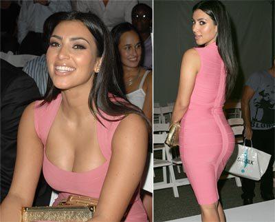 Kim Kardashian Latest Pic In Pink dress