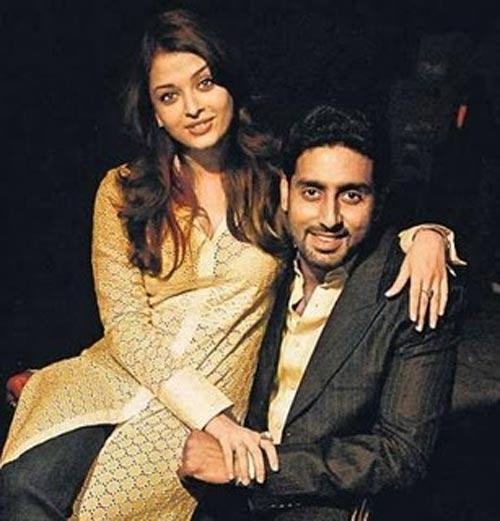 Abhishek Bachchan and Aish Poses To Photo Shoot