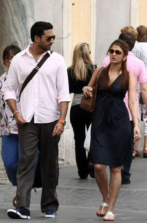 Abhishek Bachchan and Aish at Rome
