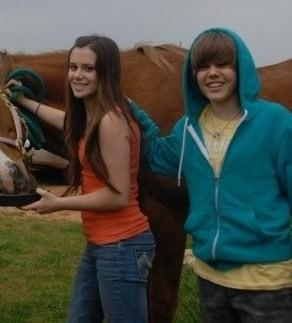 Justin Bieber Poses With Horse