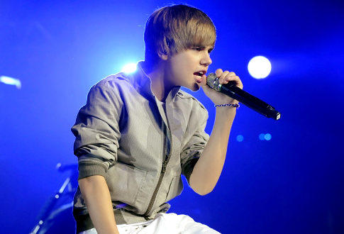Pop Singer Justin Bieber Performance Photo