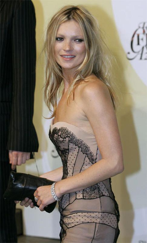 Kate Moss Strapless Dress Sizzling Photo
