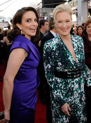 American Actresses Meryl Streep and Tina Fey Still