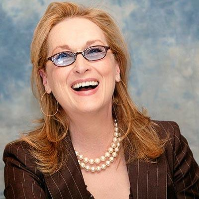 Meryl Streep With Open Smile Pic