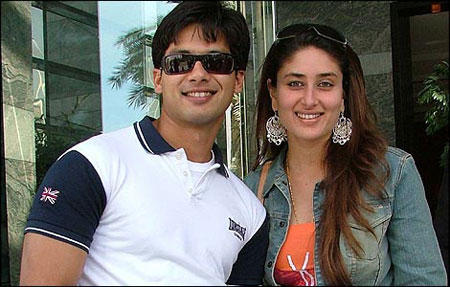 Shahid And Kareena Kapoor Sweet Smiling Pic