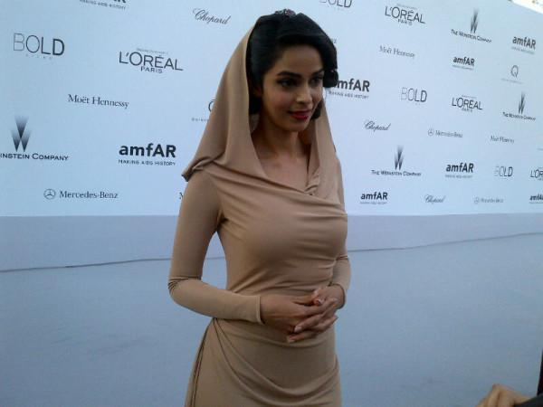 Mallika Sherawat at the Amfar Gala at Cannes
