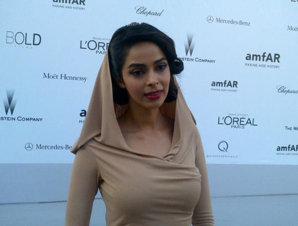 Spicy Mallika Sherawat at the Amfar Gala at Cannes