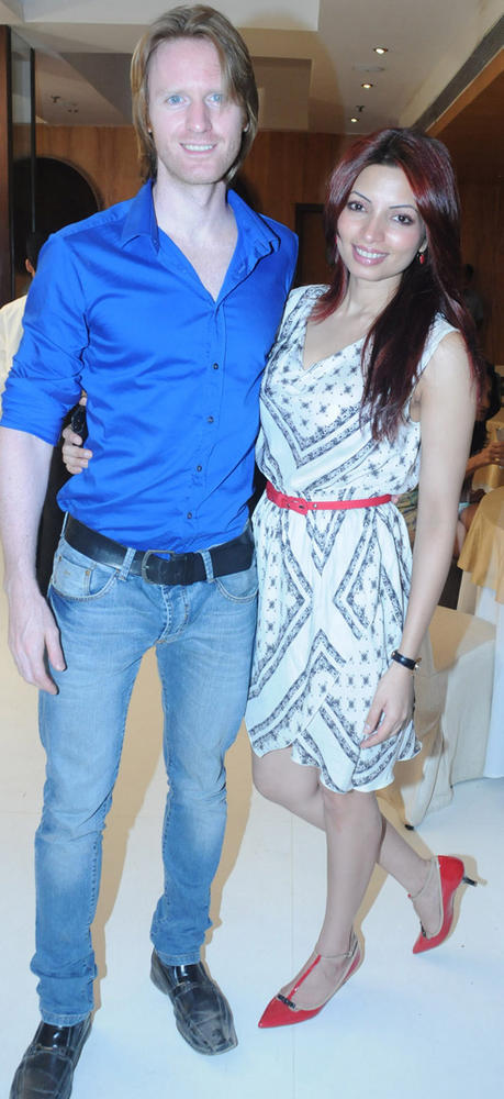 Alex O Neil and Shama Sikander at Viveck Shettyy Birthday Party