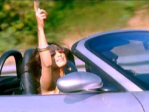 Rani Mukherjee Driving Car In Cool Pose