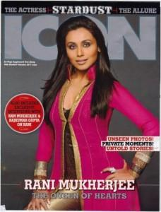 Rani Mukherjee On Icon Magazine
