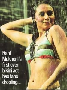 Rani Mukherjee Wet In Swimsuit Bikni For Dil Bole Hadippa