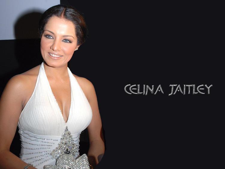 Celina Jaitley Glamour wallapper In White Dress