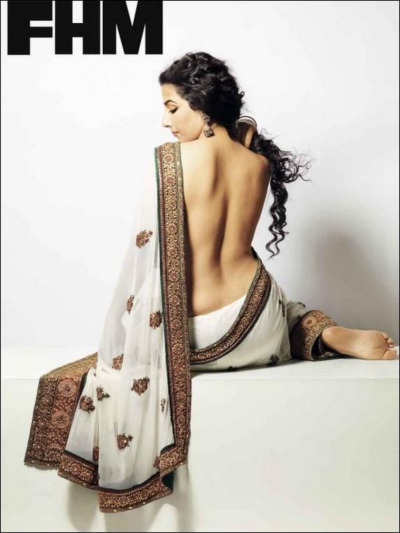 Vidya Balan Backless With Sexy Bare Back Expose In FHM