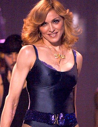 Madonna Brown Hair Glowing Look Pic