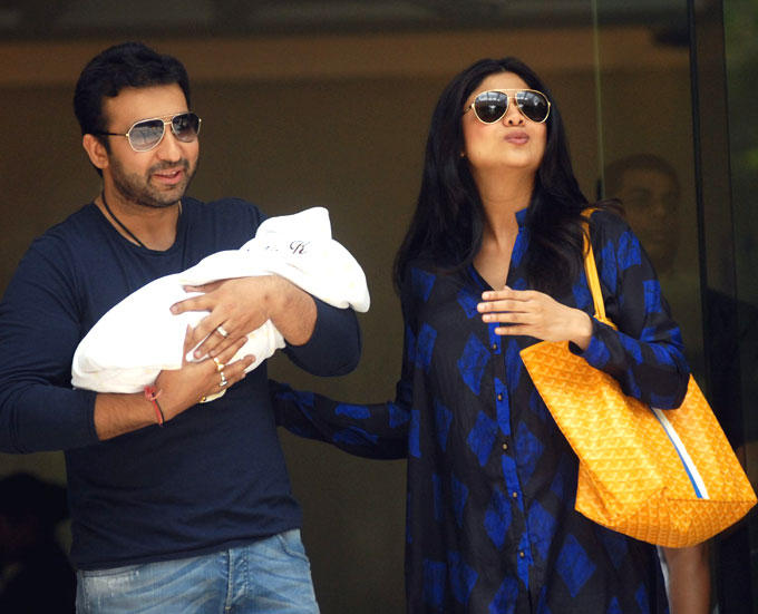 Raj Kundra and Shilpa Latest Photo With Their New Born Baby Boy