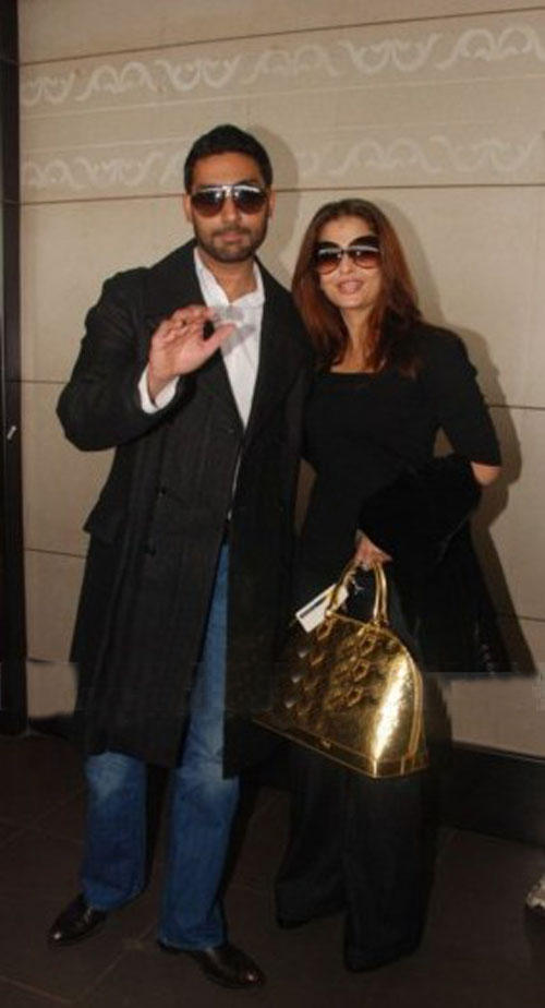 Abhishek and Aishwarya at London For Premiere Of Raavan