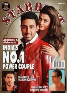 Aish and Abhi Star Dust Magazing Still