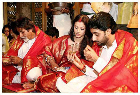 Aishwarya Rai and Abhishek Bachchan Marriage Photo