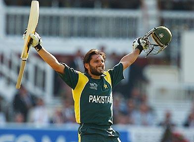 Shahid Afridi Celebrates After Pakistan's World Twenty20 Final Triumph