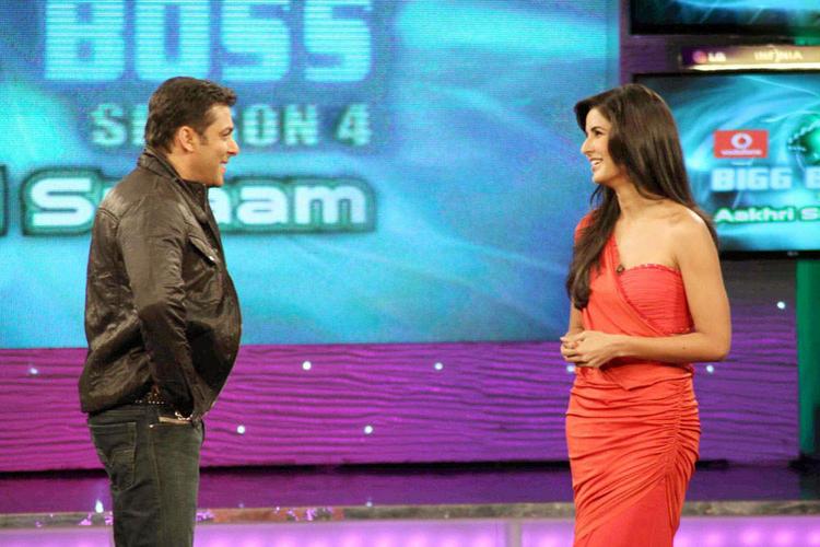 Salman Khan With Katrina Smiling Pic In Bigg Boss